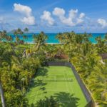 aerial view of kailua shores tennis court