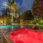 kailua shores hot tub at night