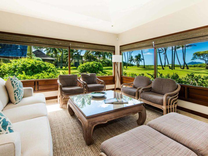 kailua shores beach house living room view