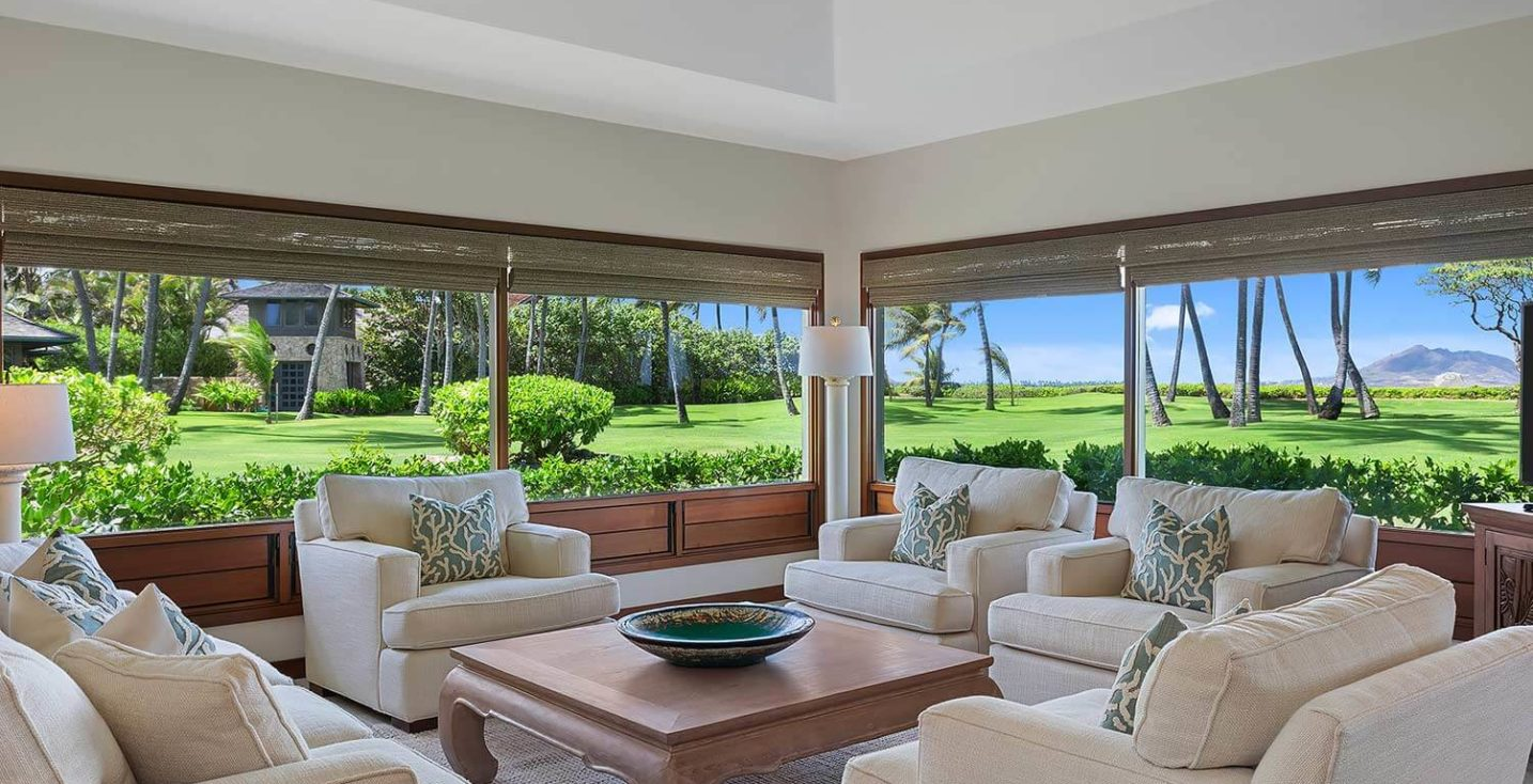 kailua shores beach house living room