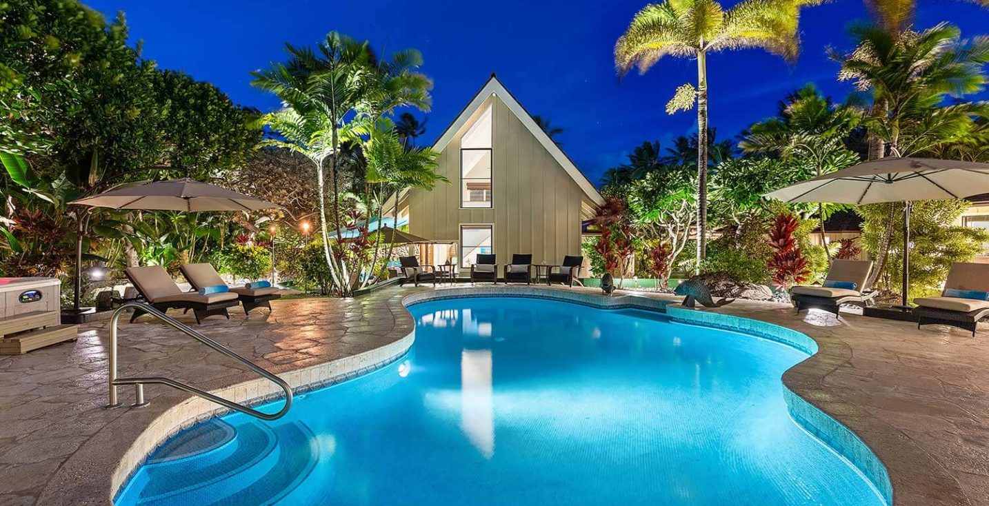 Kailua Shores Pool house and pool