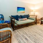 Kailua Shores Pool House entertainment room