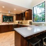 Kailua Shores Pool House executive kitchen and bar